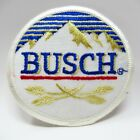 Vintage Patch - Busch Beer - Embroidered Mountains & Hops Logo - Collectible