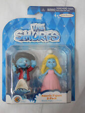 "THE SMURFS Jakks Pacific PAINTER & SMURFETTE  3"" Figures 2 pack SEALED"