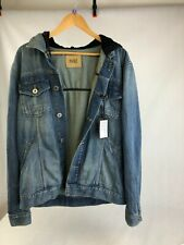 PAIGE Men's Soft Denim Hooded Jacket, NEW w/TAGS, Size MEDIUM, RRP £213