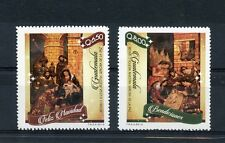 Guatemala 2014 MNH Christmas 2v Set Paintings Art Feliz Navidad Bendiciones