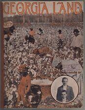 Georgia Land 1912 Large Format Arthur Fields Harry Carroll Sheet Music
