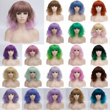 Womens 35cm Short Wavy Curly Hair Synthetic Anime Cosplay Full Wig Wigs Party