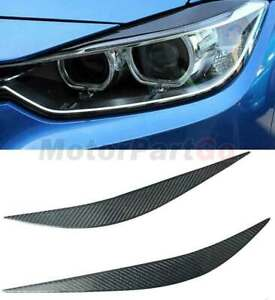 Carbon fiber light Eyelid Eyebrow Cover Trim For BMW F32 F36 F80 M3 F82 F83 M4