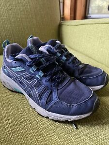 Asics Gel-Venture 7 Trail Running Shoes Womens Size 7 Blue Teal
