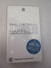 PHILOSOPHY A Guide To Happiness Alain De Botton PAL VHS Video NEW & SEALED