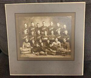 Vintage 1900s Era Original Football Cabinet Antique Team Photo Watonga Okla.
