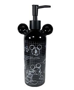 Disney Mickey Mouse Sketchbook Black Lotion Hand Cream Soap Dispenser Pump NWT
