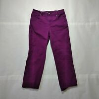 Gloria Vanderbilt Womens Amanda Straight Leg Casual Cropped Capri Pants Size 8p