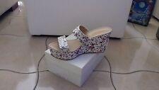scarpe donna mis 39 con zeppa stampa a fiori
