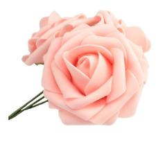 1-200 Artificial Foam Roses Flowers Wedding Bride Bouquet Flowers Home Decor UK