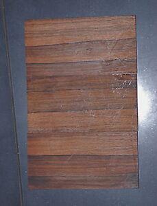 Ebony Genuine Macassar  matched Set 3pc Luthier Bridge knife banks etc