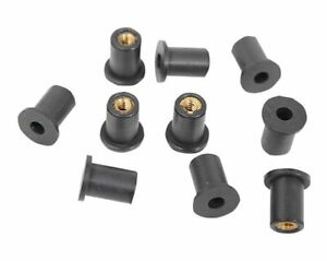 Motorcycle Fairing Rubber Wellnuts Rawl Well Nuts M5 Fairings High Quality x 10