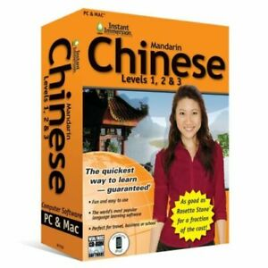 Learn How To Speak Chinese With Instant Immersion Levels 1-3 Retail Box