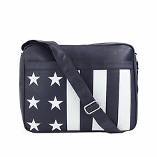 Stars and Stripes Messenger Bag Satchel Manbag, Perfect for School or Work
