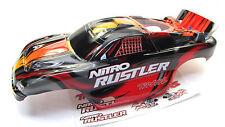 Nitro RUSTLER - Body Shell (RED & Silver Cover ProGraphix 2.5 Traxxas 44096-3