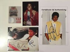 Michael Jackson - Signed - Autographe - Photos