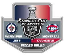 2021 STANLEY Tasse Playoffs Broche Winnipeg Jets Montreal Canadiens Rond 2