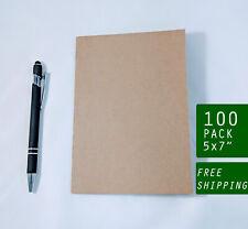 Bulk Kraft Notebooks, 5 x 7 Inch, Journals, Sketchbook, Small Blank Journals