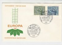 germany 1962 europa stamps cover ref 20251