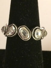 SILPADA~STERLING SILVER BRILLIANCE CZ ETERNITY BAND RING~R2807~SIZE 8~RETIRED!