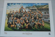 COLLINGWOOD MAGPIES TEAM OF THE CENTURY JAME COOPER PRINT BUCKLEY SHAW DAICOS