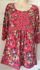 M&S Per Una Cotton FLORAL Tunic Dress Size 14