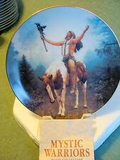 native American Hamilton Deliverance Mystic Warriors  Plate 1992 Chuck Ren 3693V