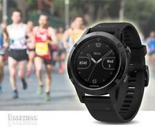 GARMIN Fenix 5 Watch Sapphire Black Band GPS HRM Sports Running Triathlon Golf