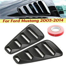 For 05-14 Ford Mustang 1/4 Quarter Black Side Window Louvers Scoop Cover Vent US