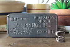 Vintage Metal Box Filled With Springs, Mechanic's Choice Box, Small Industrial