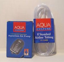Aqua Culture Aquarium Air Pump and Standard Airline Tubing