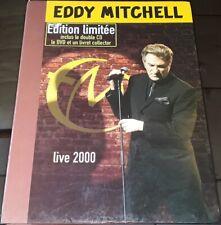 EDDY MITCHELL GRAND COFFRET EDITION LIMITEE LIVE 2000 2 CD + LIVRET + DVD