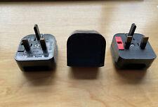 2 pin euro to 3 pin uk plug adapter (3 Available) B&O Compatible