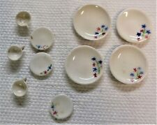 Dollhouse Miniature Ceramic Set Mini Plates Cups