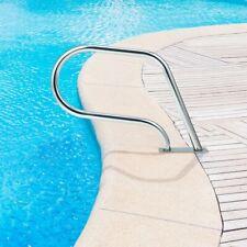 Swimming Pool Hand Rail w Base Plate Stainless Steel Inground Spa Handrail