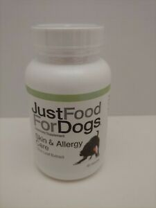 JustFoodForDogs Skin & Allergy Care Supplements for Dogs 60 Capsules