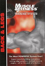 MUSCLE & FITNESS TRAINING SYSTEM BACK AND LEGS DVD BODY BUILDING