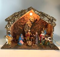 Nativity Set 12 Piece Vintage Fontanini Chalkware Plaster Statuary Italian Italy