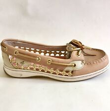 Sperry Top- Sider Women's Size 6 M Angelfish Caning Woven Boat Shoes Tan Gold