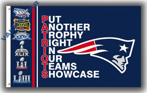 New England Patriots Champions TROPHY flag 90x150cm 3x5ft best banner