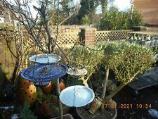 100% UP-CYCLED VINTAGE Enamel Hanging Bird Feeder, Garden Ornament, SUPERB  (12)