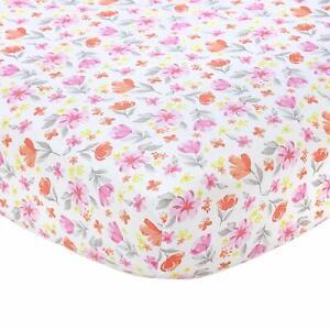"Carter's Floral  100% Cotton Sateen Crib Sheet - 52"" x 28"""