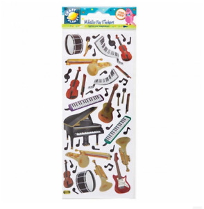 Musical Instrument Stickers - Fun Stickers - Metallic
