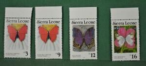 SIERRA LEONE STAMPS 4 1987 BUTTERFLIES U/M   (R48)