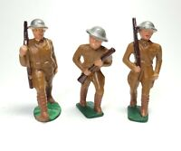 Lot (3) Vintage Manoil Barclay Lead Toy Soldiers U.S. Military Rifle Action Pose
