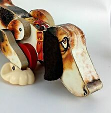1961 Fisher Price Snoopy Dog Pull Toy 181 Vtg Wood Toy Beagle Kid Boy Girl Gift