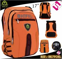 MOCHILA GAMING KEEP OUT 17 PULGADAS NARANJA FLUOR BK7FOXL PORTATIL TABLET EBOOK