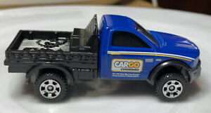 Matchbox 2016 Dodge Ram Flatbed Blue 1/64 Diecast Loose Work Truck