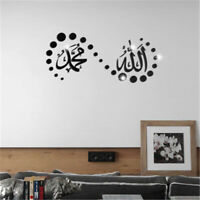 Muslim 3D Acrylic Mirror Wall Stickers Removable Decal Home Bedroom Decoration