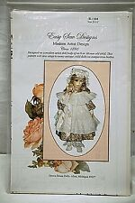 "Easy Sew Designs Brown House Doll Dress & Bonnet Circa 1895 Size 13"" 14"" B-1104"